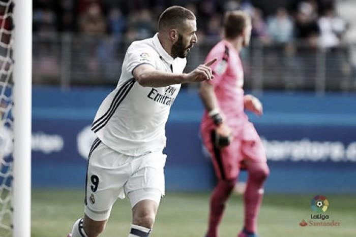 Liga, il Real Madrid dilaga a Ipurua contro l'Eibar (1-4)