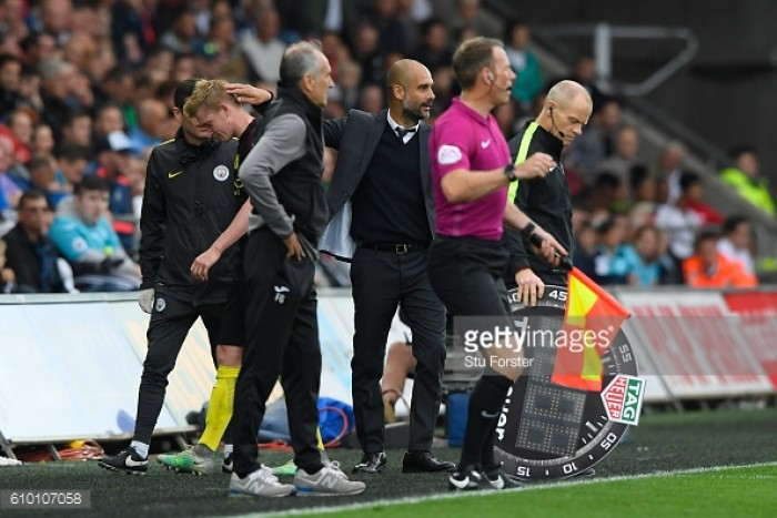 Manchester City dealt blow as Kevin de Bruyne is sidelined for four weeks
