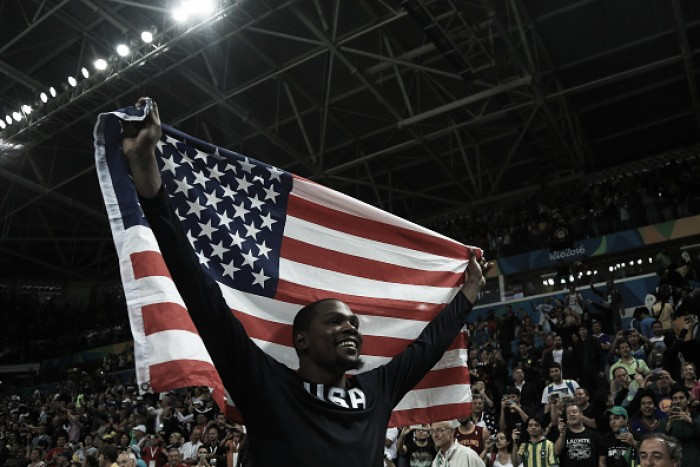 Rio 2016: Durant drops 30 as USA win men's basketball gold for third-consecutive Olympics