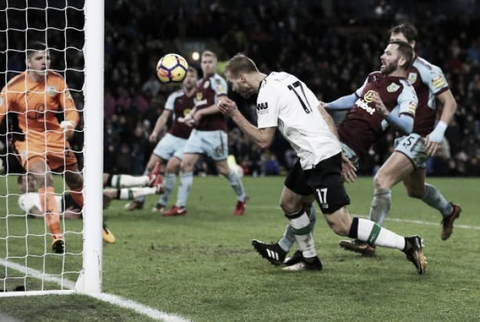 Klavan marca nos acréscimos e Liverpool derrota Burnley fora de casa