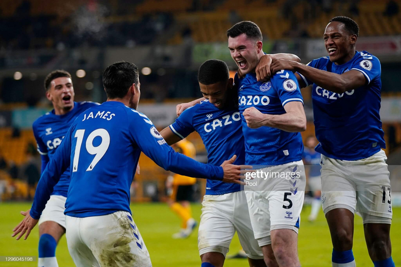 Wolves 1-2 Everton: Keane header lifts Toffees into Champions League spots
