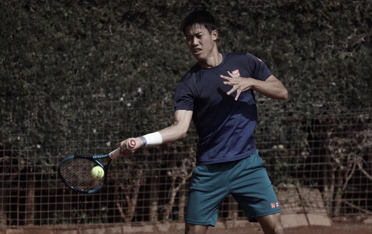 Kei Nishikori entrena en Barcelona de cara a la Mutua Madrileña