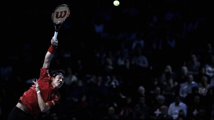 Nishikori se impuso ante Wawrinka en dos sets