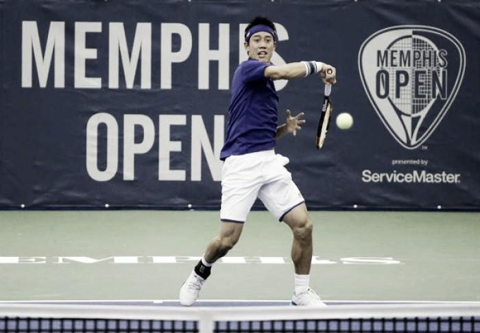 Nishikori vence sin brillo en Memphis