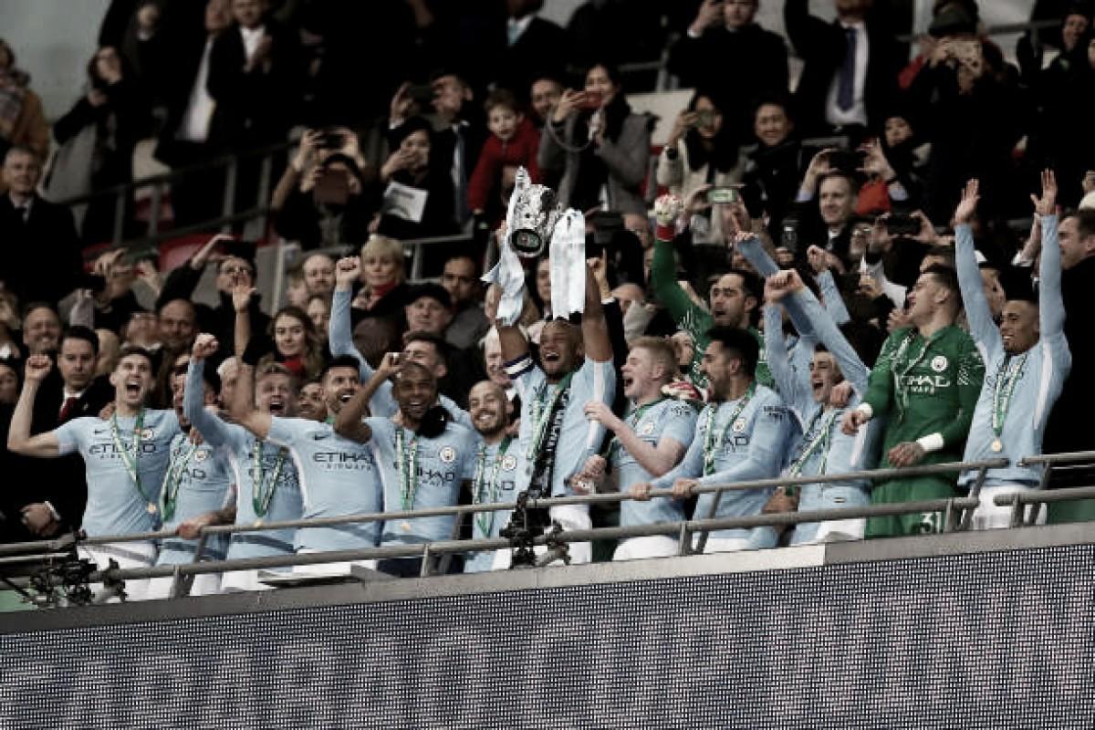Pep Guardiola ganha o seu primeiro troféu em Inglaterra