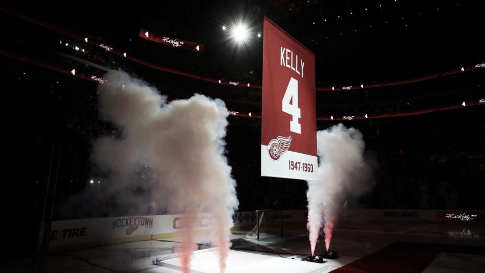 Los Red Wings retiran el dorsal número 4 en honor a Red Kelly