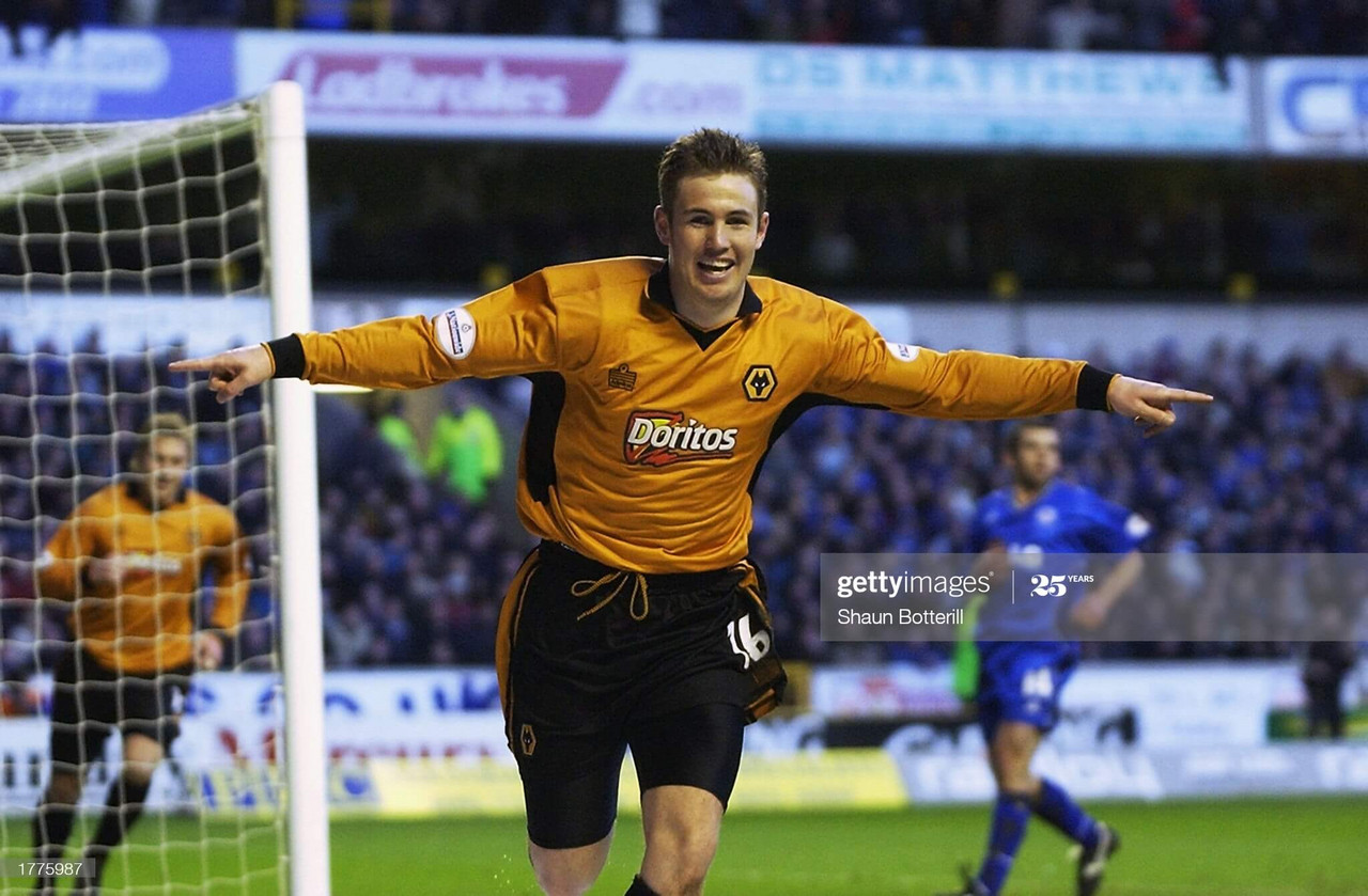 Kenny Miller celebrating netting in a Wolverhampton Wanderers shirt ((Photo by Shaun Botterill/Getty Images).