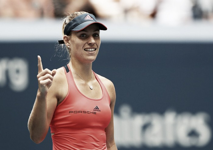 Kerber puts aside jet, deficit to top Vinci in US Open QFs