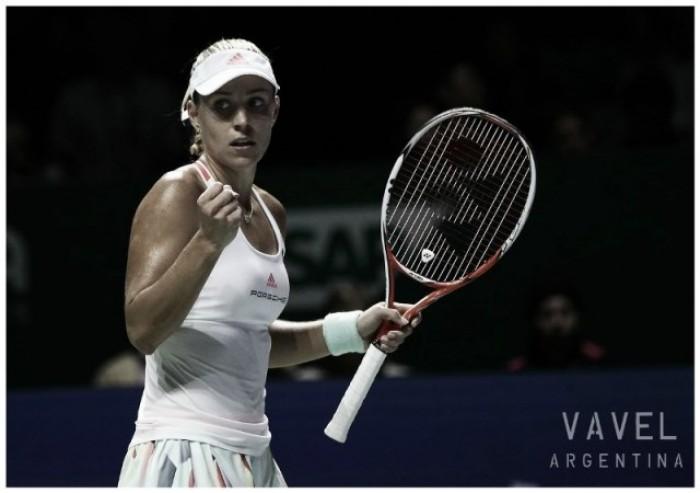 WTA Finals: Angelique Kerber se quedó con el primer duelo