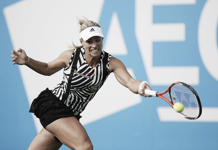 WTA de Birmingham: Kerber e Kvitova avançam em dia marcado pela chuva