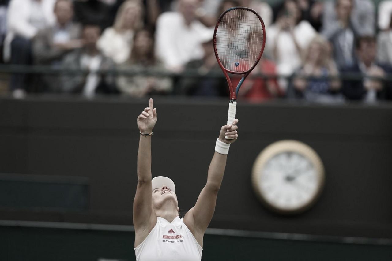 Kerber joga bem, bate Muchova e está nas semis de Wimbledon pela quarta vez