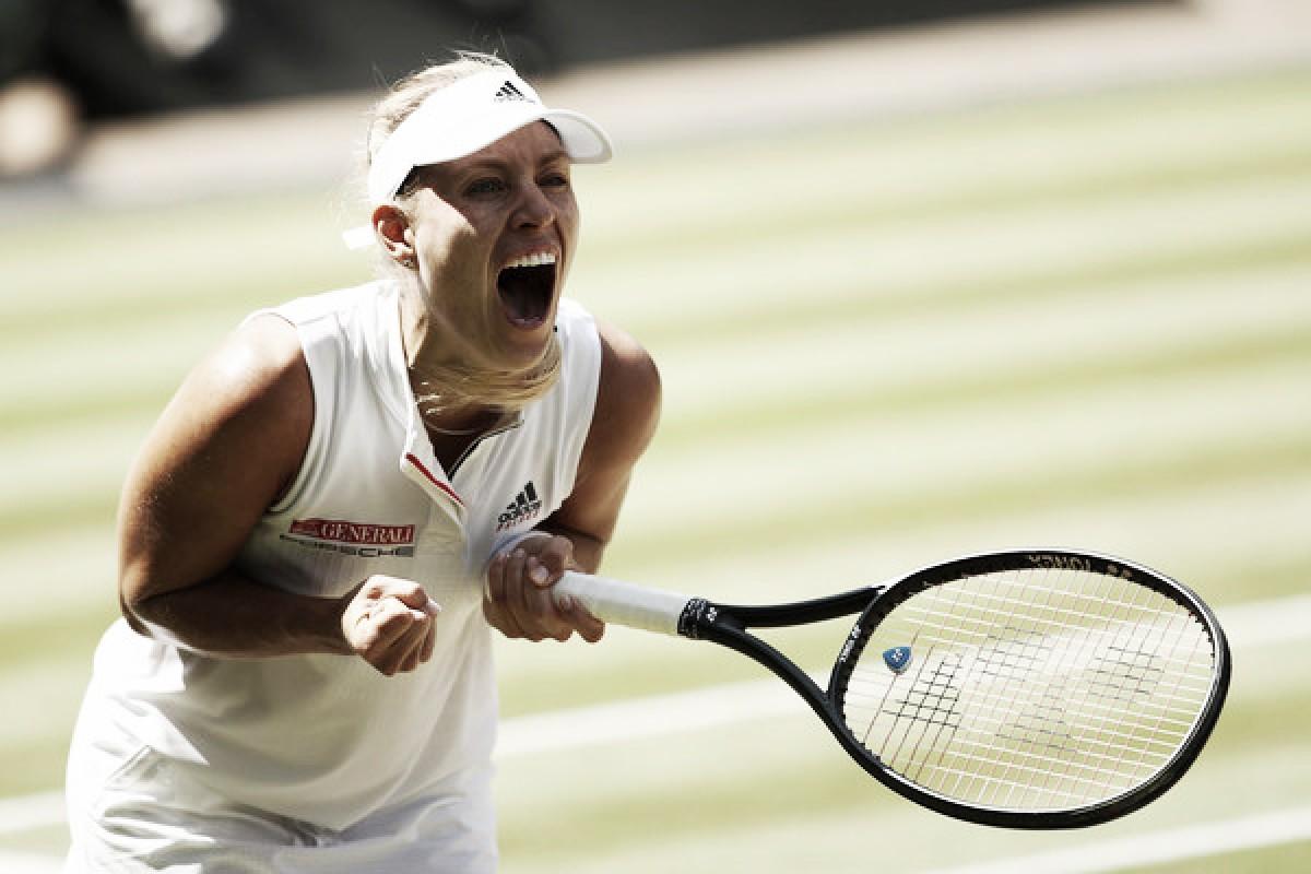 Wimbledon: Angelique Kerber edges past Jelena Ostapenko in straight sets