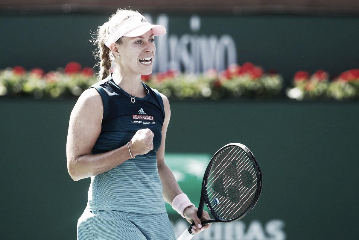 Kerber passa tranquila por Putintseva rumo à terceira rodada em Indian Wells