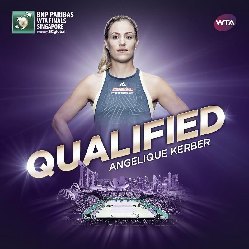 Angelique Kerber qualifies for WTA Finals