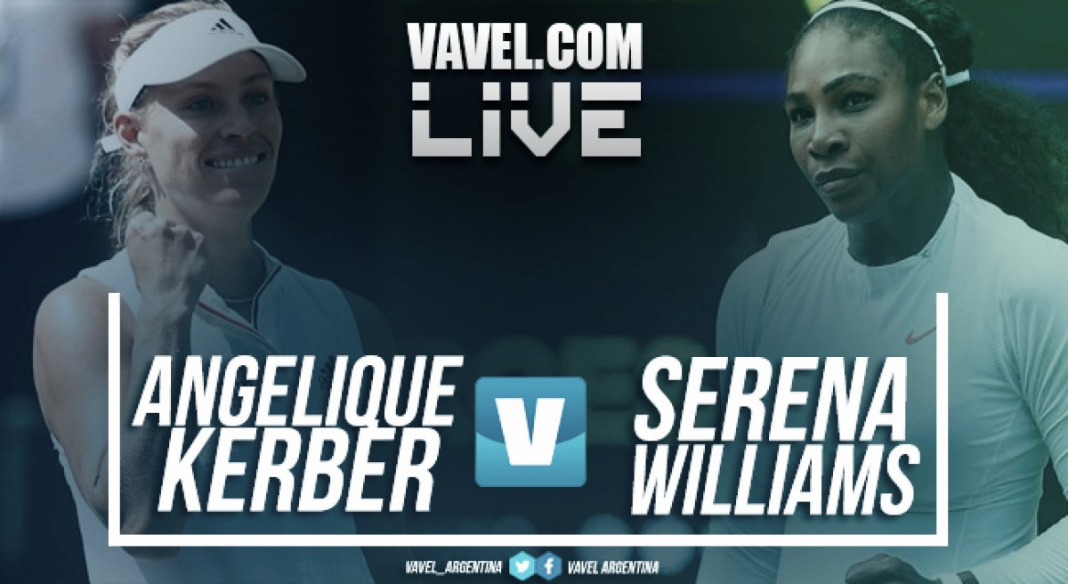 Resumen Angelique Kerber vs Serena Williams (6-3 y 6-3)