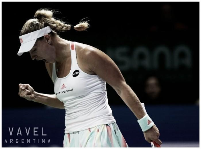 WTA Finals: Kerber a un paso de semifinal