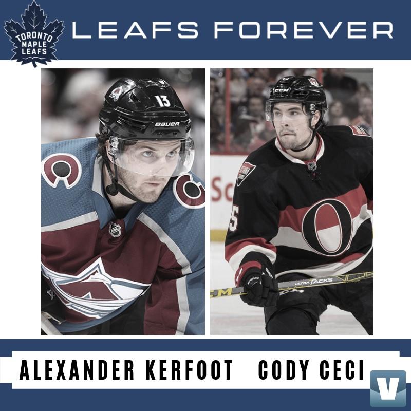 Ceci y Kerfoot firman extensiones de contrato con Toronto Maple Leafs
