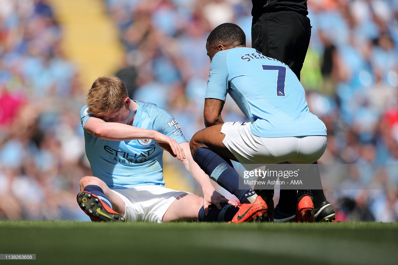 Kevin de Bruyne a doubt for definitive Manchester derby according to Pep Guardiola