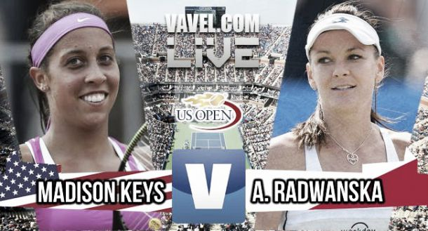 US Open 2015 - Madison Keys bt. Agnieszka Radwanska: As it happened