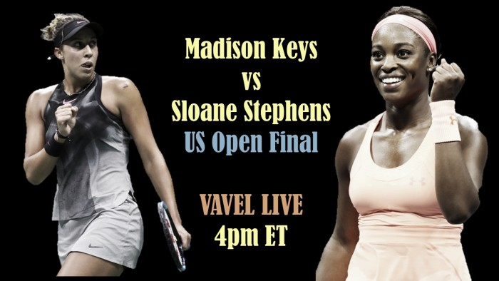 Madison Keys vs Sloane Stephens Live Stream Commentary and Updates of the 2017 US Open Final