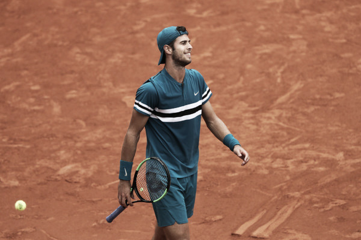 French Open: Karen Khachanov brushes off Lucas Pouille in straight sets