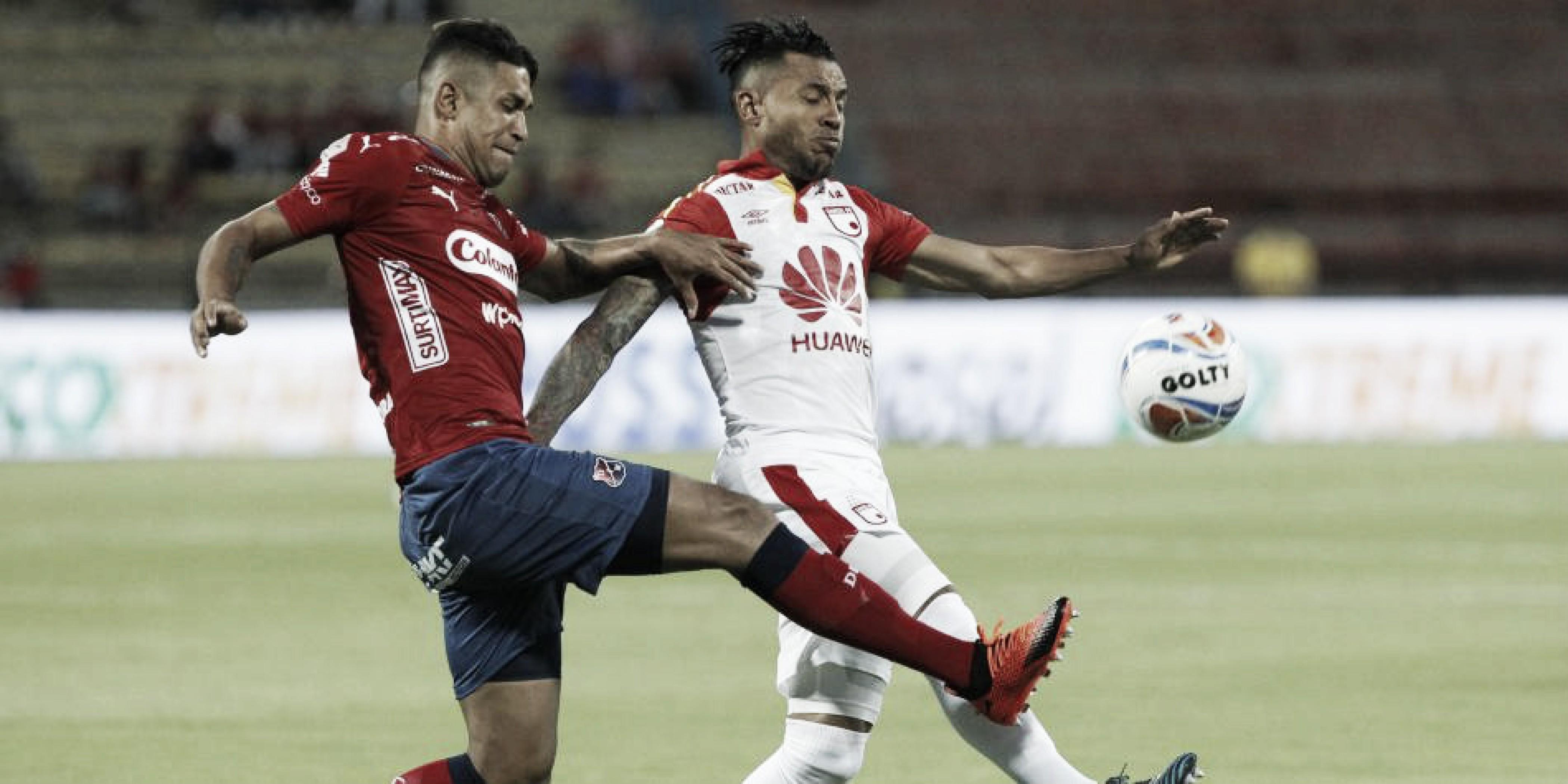 Independiente Medellín y Santa Fe dividieron honores