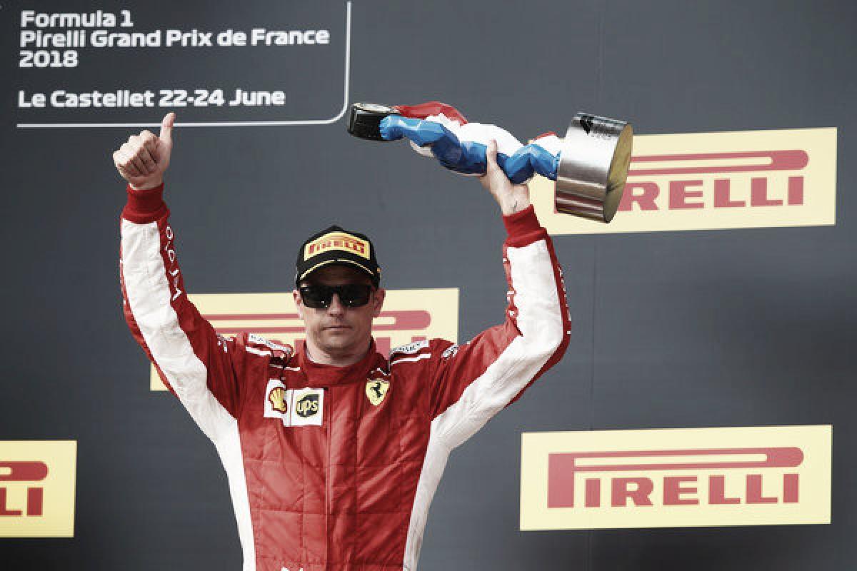 """Räikkönen: """"Teníamos velocidad y he conseguido llegar al podio"""""""
