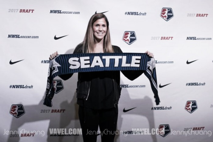 Katie Johnson signs her first pro contract with the Seattle Reign