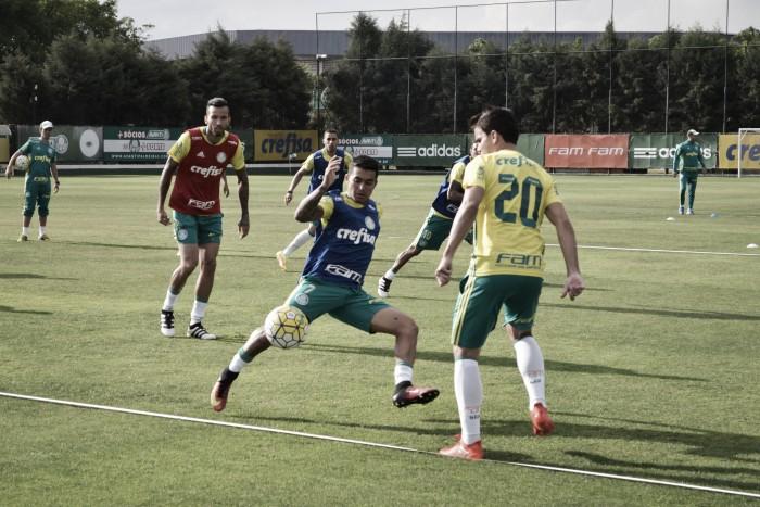 Em reapresentação após vitória no Recife, Palmeiras treina sob olhar de bom público