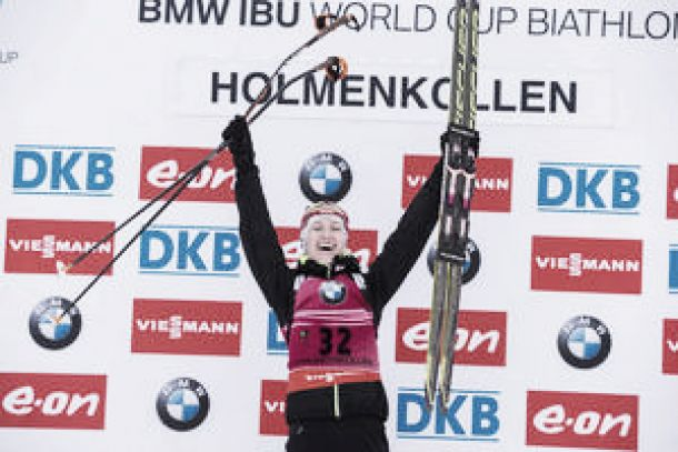 Biathlon, sprint donne Holmenkollen: Domracheva piazza la zampata e diventa leader della classifica di Coppa del Mondo!