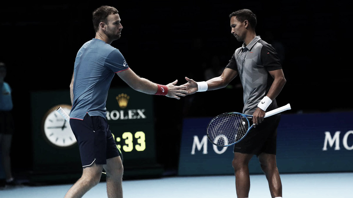 Klaasen/Venus se recuperam de derrota na estreia e eliminam Mektic/Peya do ATP Finals