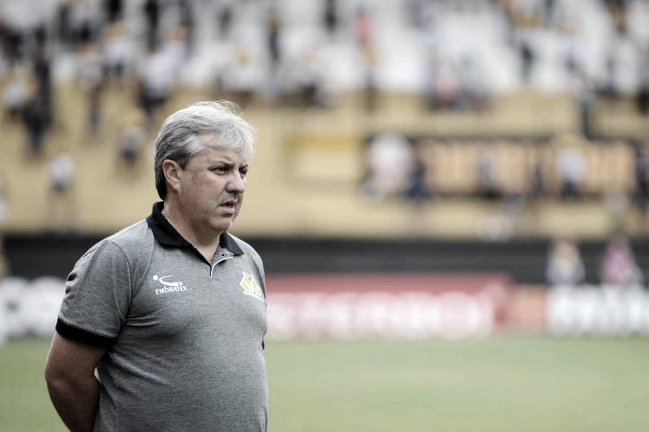 """Apesar de novo empate, Kleina destaca atuação do Criciúma: """"Está faltando a primeira vitória"""""""