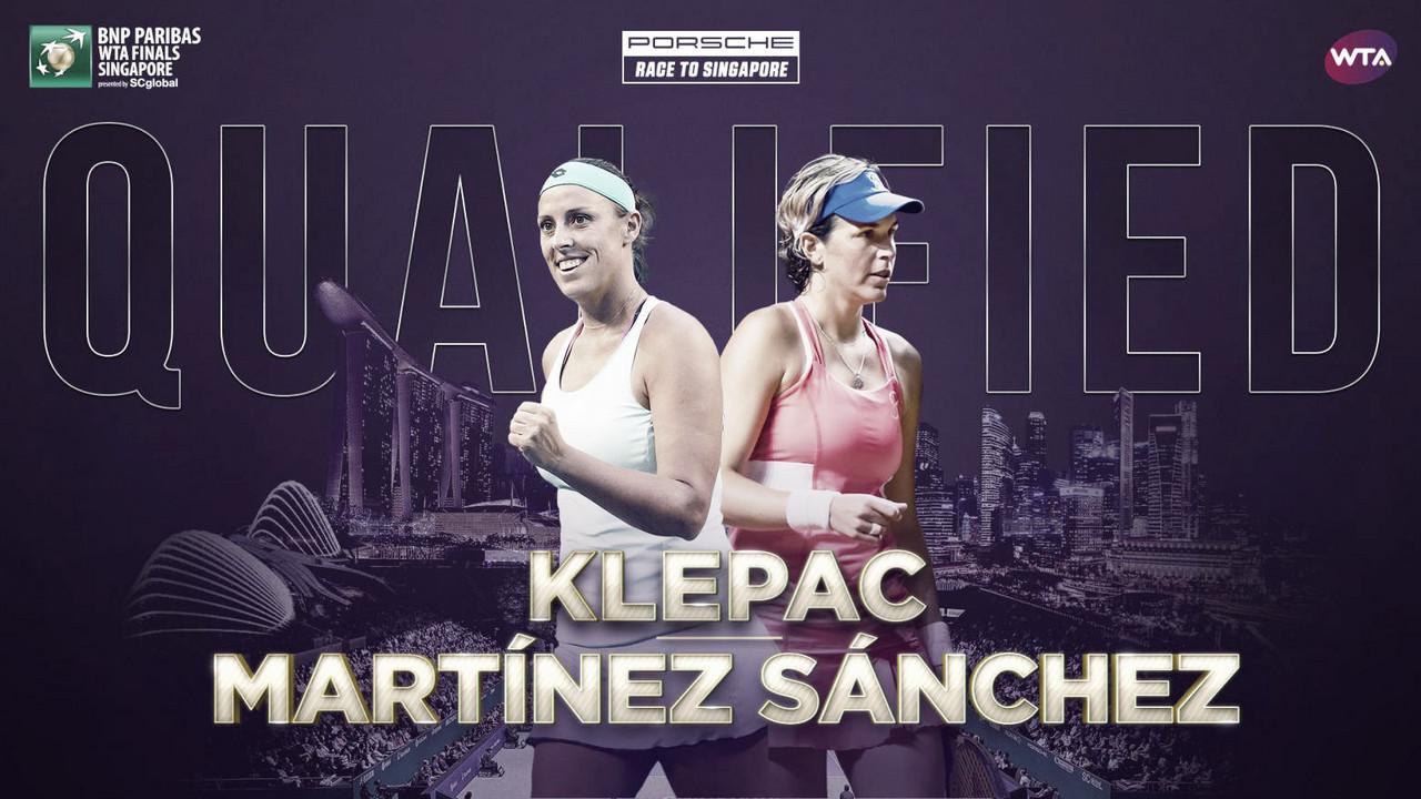 Andreja Klepac and Maria Jose Martinez Sanchez qualify for WTA Finals