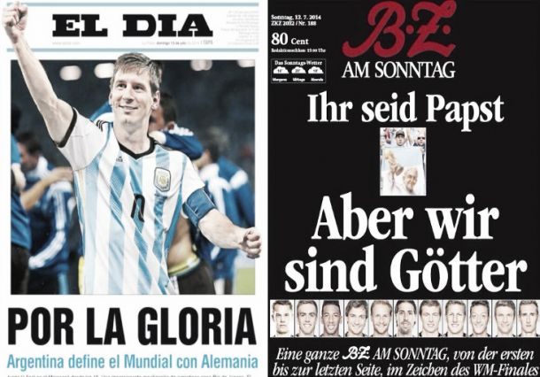 Confiance et gloire dans la presse allemande et argentine pour le Jour-J