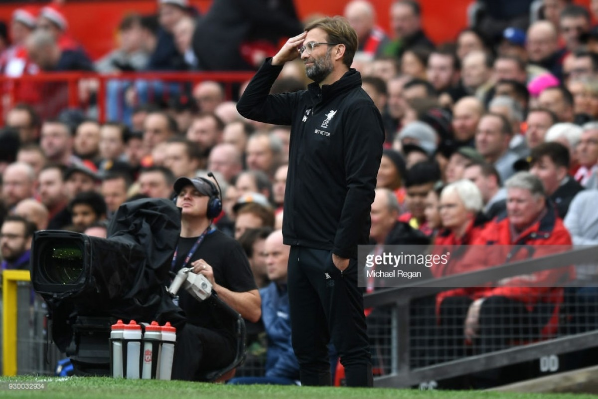 Jürgen Klopp says Liverpool 'have to respond' after defeat to Manchester United