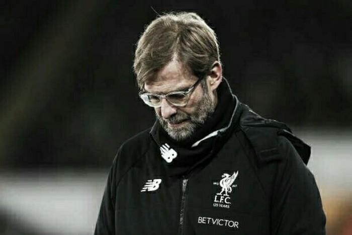 Klopp se mostra frustrado com atuação do Liverpool na derrota para o Swansea