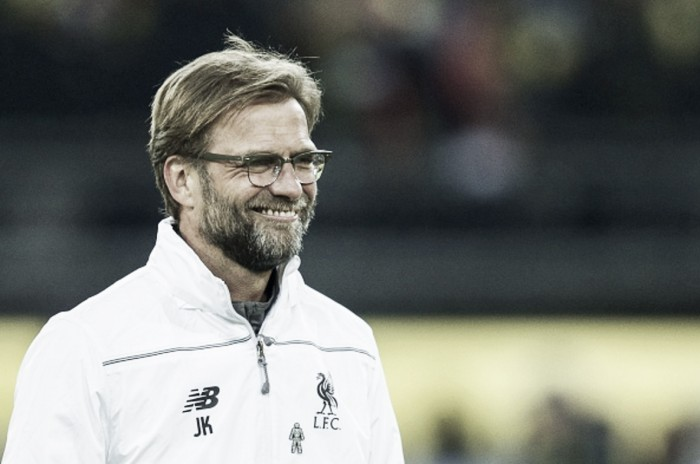 I'm satisfied with our first-leg Dortmund performance, but the tie is still 50-50, says Jürgen Klopp