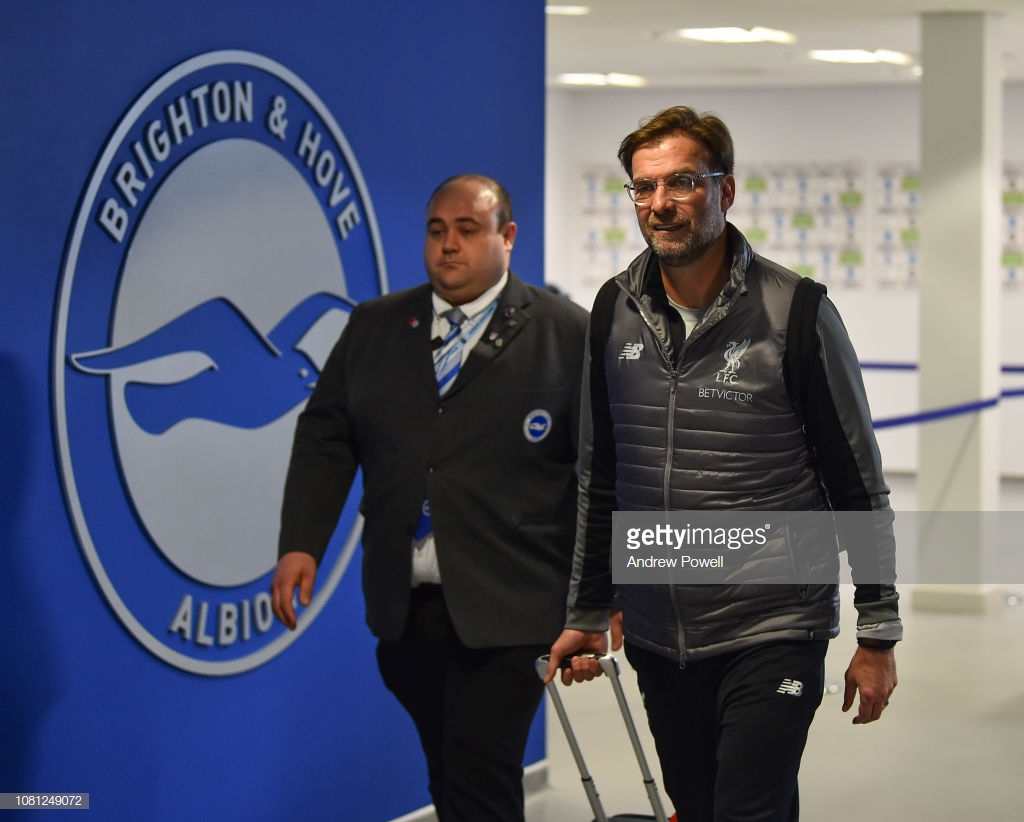 Brighton Hove & Albion vs Liverpool Team News: Fabinho starts in defence as Matip makes bench
