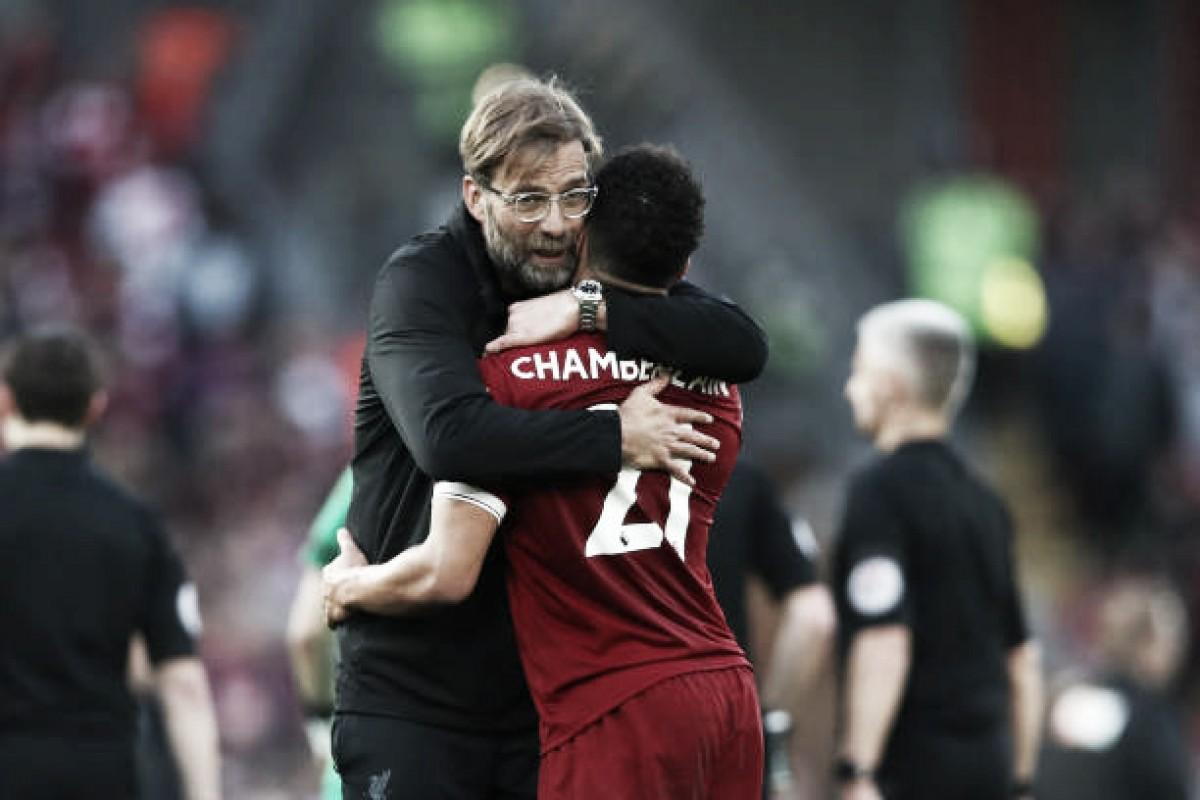 """Klopp se impressiona com número de gols marcados pelo Liverpool: """"É uma loucura"""""""