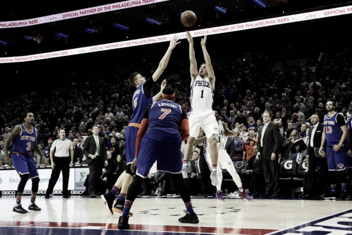 T.J. McConnell hits a winning last second shot to give Philadelphia Sixers a 98-87 victory over New York Knicks