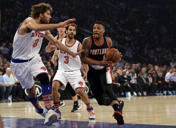 Portland Trail Blazers Backcourt Showcases 55 Point Performance To Annihilate New York Knicks