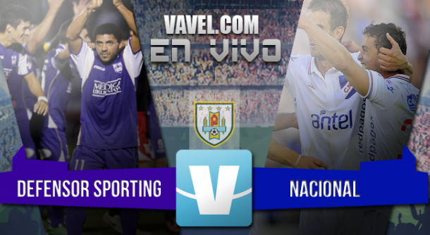 Resultado Defensor Sporting - Nacional en el Clausura 2015 (0-0)