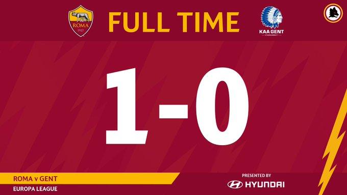 Roma di misura e sfortunata: solo 1-0 al Gent