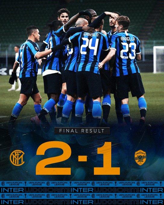 L'Inter controlla e batte 2-1 il Ludogorets e passa agli ottavi