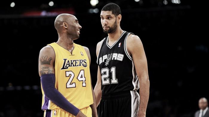 Após Kobe Bryant aposentar, Tim Duncan segue mesmo caminho e põe fim numa era da NBA