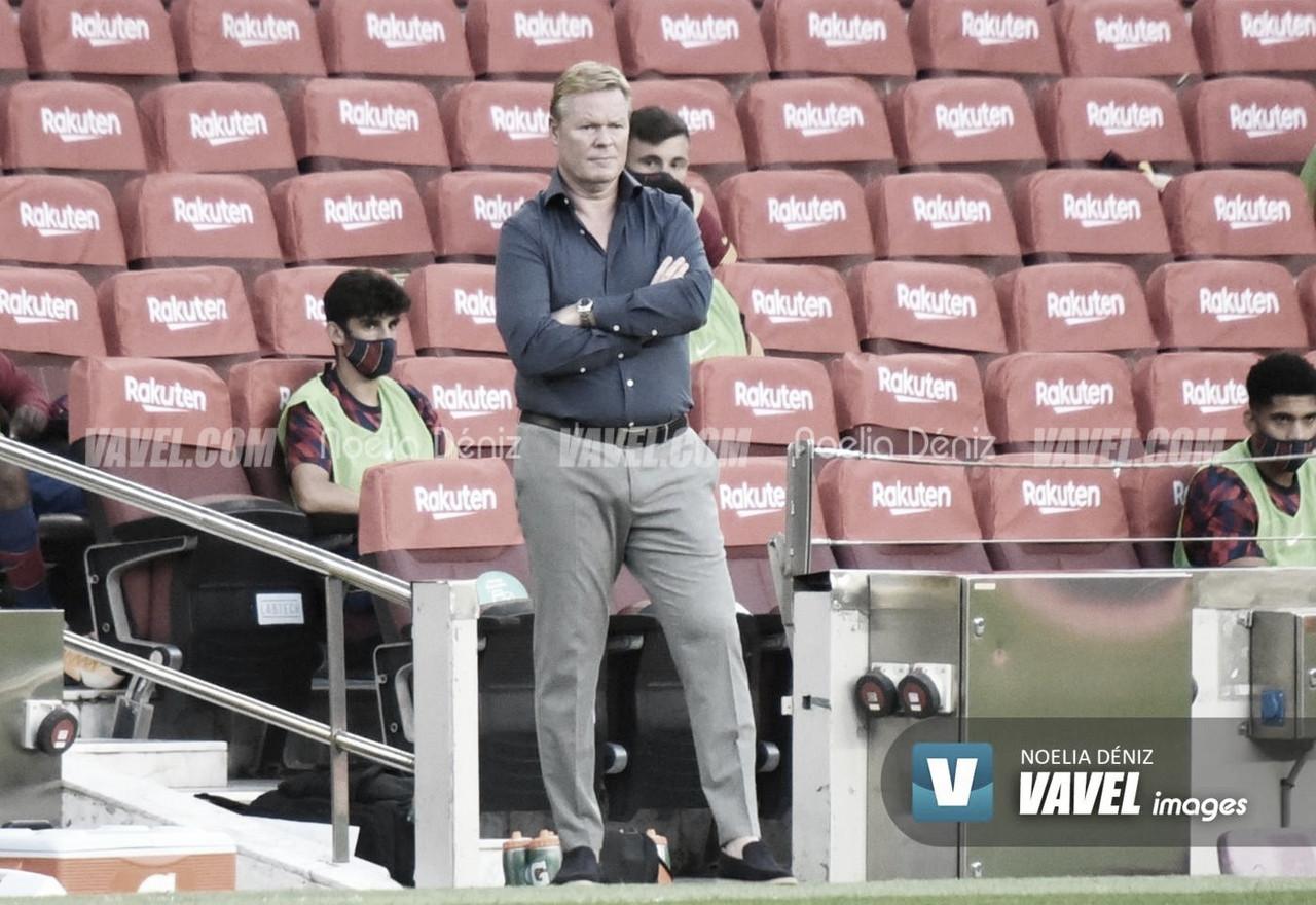 Ronald Koeman en el Camp Nou frente al Elche CF. Foto: Noelia Déniz, VAVEL