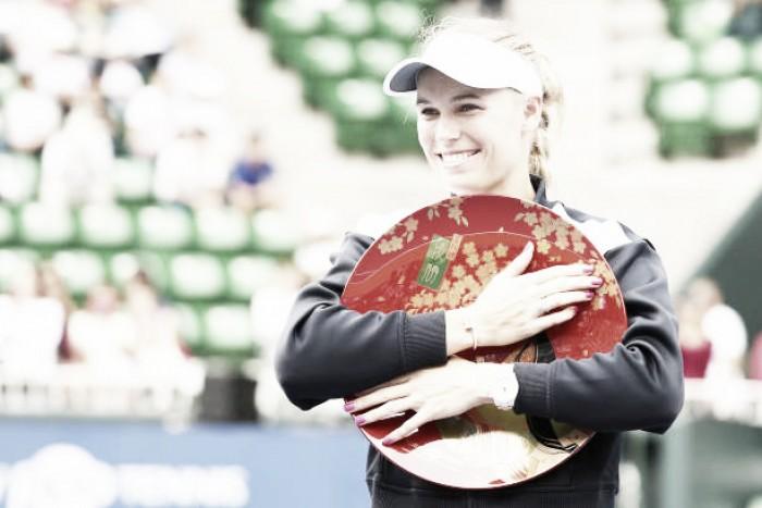WTA Tokyo: Caroline Wozniacki beats Anastasia Pavlyuchenkova to defend title