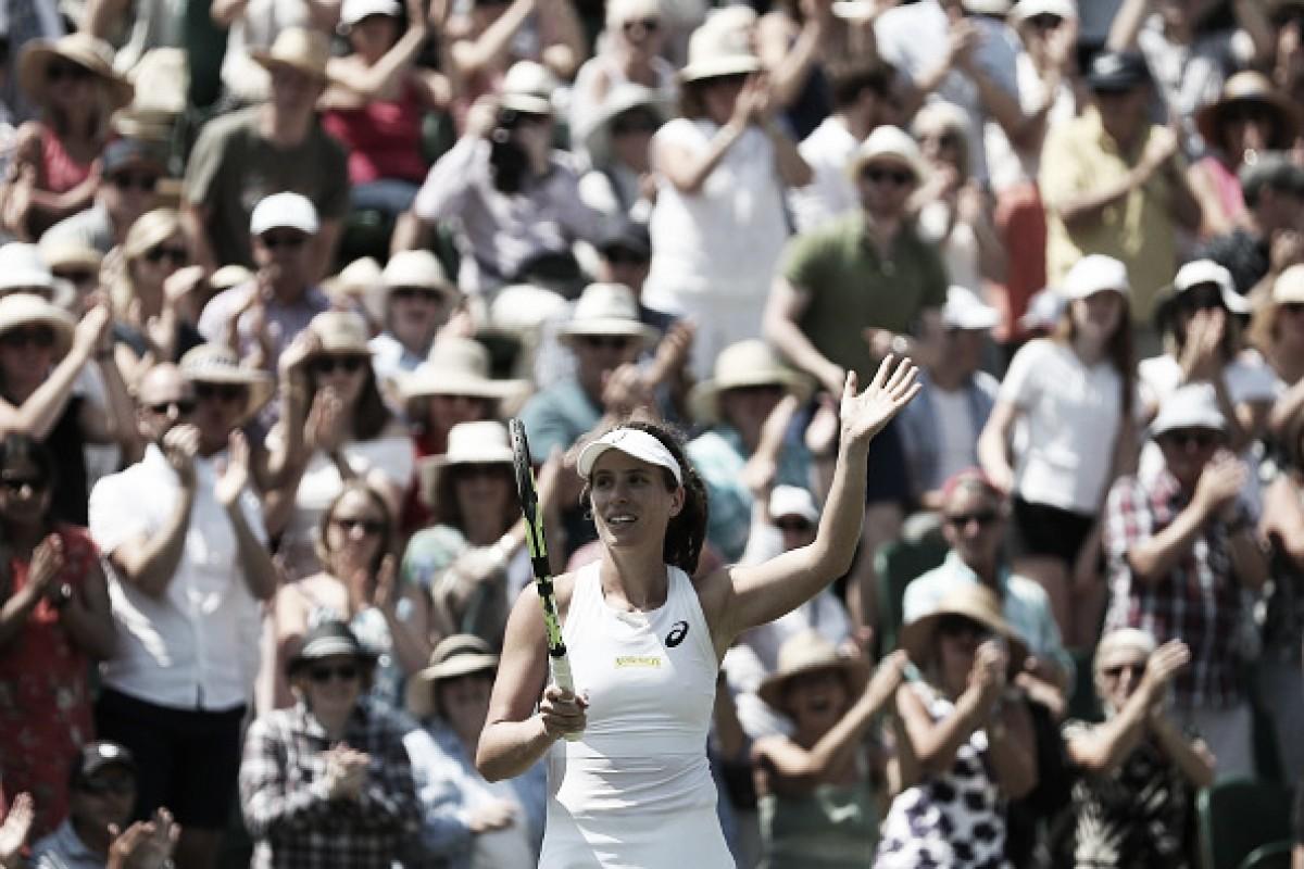 Konta passa por Vikhlyantseva em jogo duro e avança à segunda rodada em Wimbledon