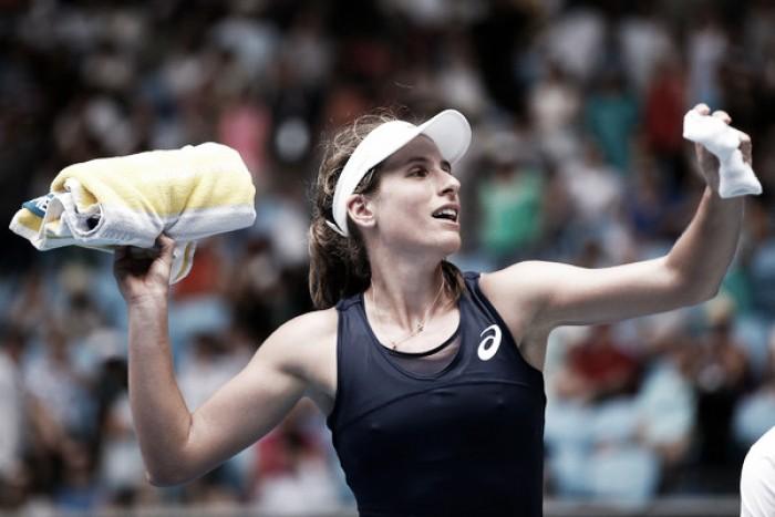 Australian Open: Johanna Konta strolls to victory over Ekaterina Makarova in straight sets
