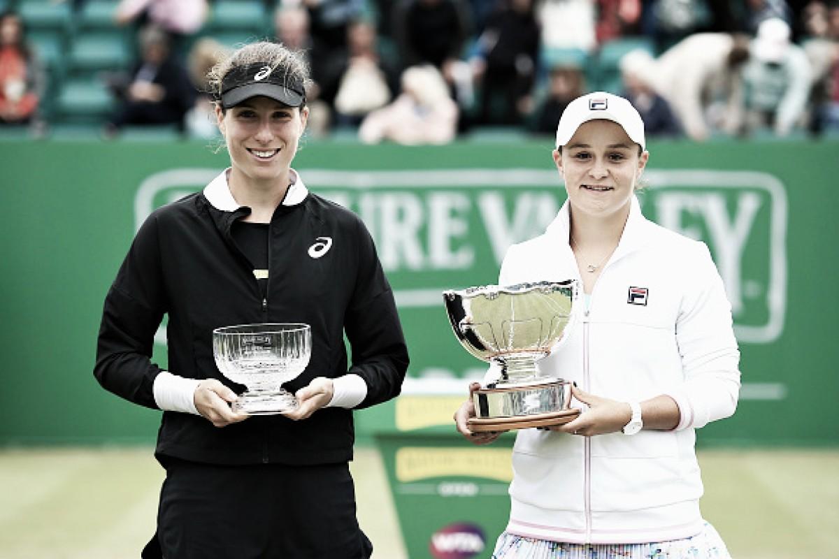 Com polêmica arbitragem brasileira, Barty supera Konta e conquista WTA de Nottingham